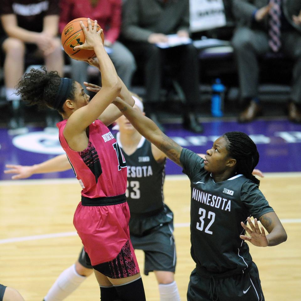 NCAA BASKETBALL: FEB 07 Women's - Minnesota at Northwestern