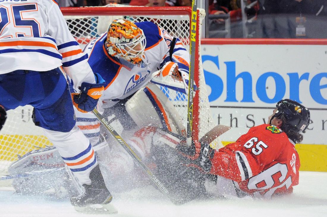 NHL: NOV 08 Oilers at Blackhawks