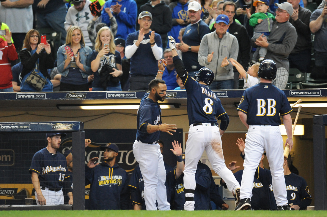 MLB: APR 24 Phillies at Brewers