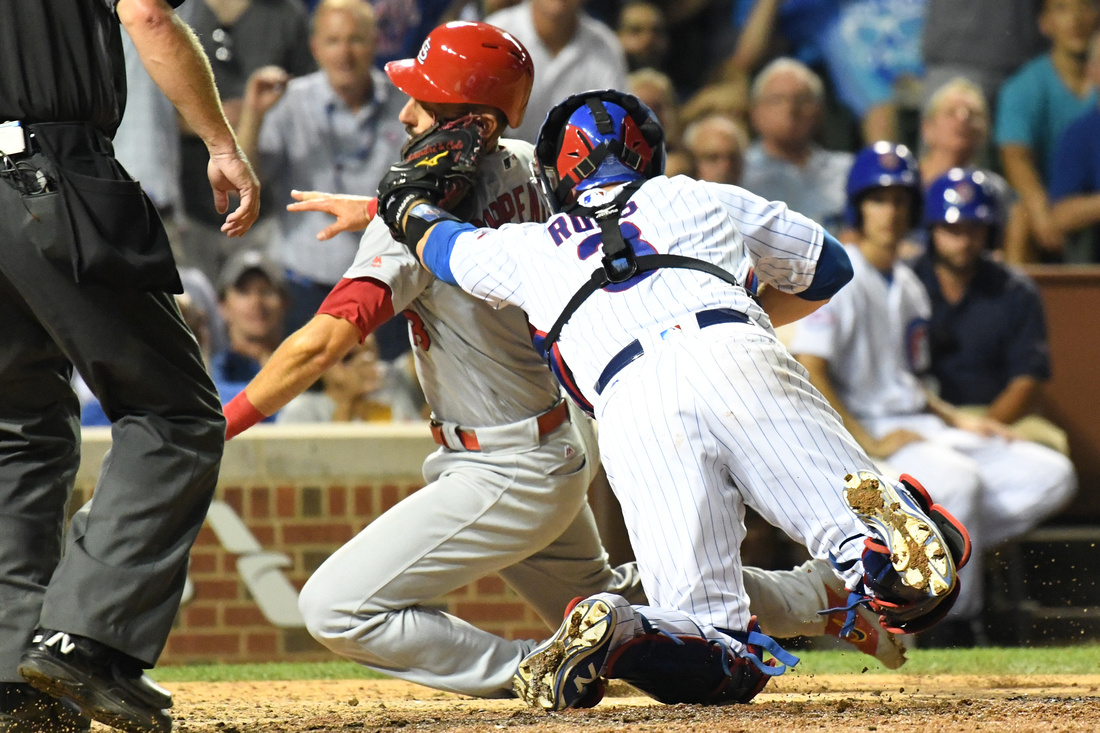 MLB: AUG 11 Cardinals at Cubs